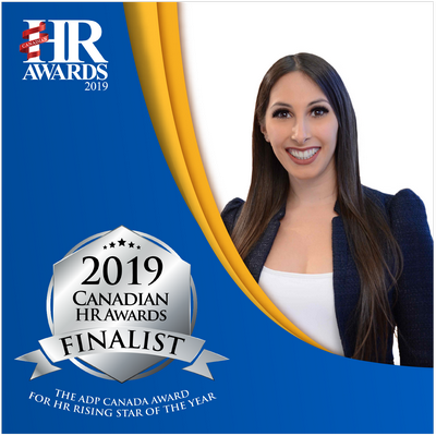 Centurion Human Capital Director Laura Salvatore Finalist for HR Rising Star of the Year in the 2019 Canadian HR Awards