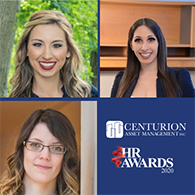Centurion's Dynamic HR Department named Finalist for HR Team of the Year and Best Talent Management Strategy for the 2020 Canadian HR Awards